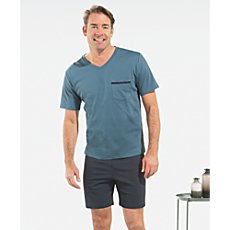 Schiesser interlock jersey short pyjamas