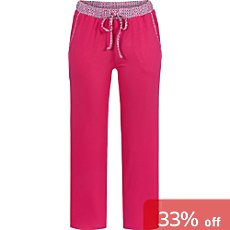 Bloomy single jersey women's cropped trousers 7/8 length