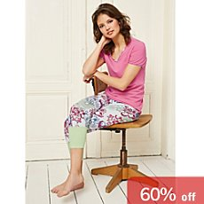 Bloomy single jersey women's Capri leggings