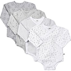pippi  4-pack wrap bodysuits