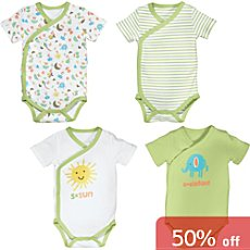 Erwin Müller  4-pack baby wrap bodysuits
