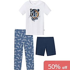 Schiesser single jersey 3-piece kids pyjamas set