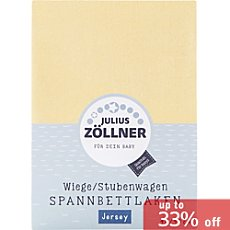 Julius Zöllner pure cotton single jersey baby & toddler fitted sheet