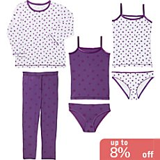Kinderbutt single jersey underwear set, 5-parts