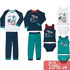 Kinderbutt single jersey underwear set, 10-parts