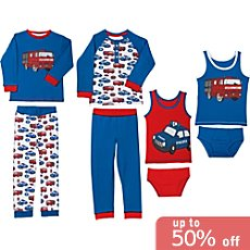 Erwin Müller interlock jersey 8-piece boys pj & underwear set
