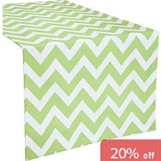 Erwin Müller stain-resistant table runner with zigzag patterns