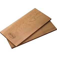 A set of 2 Rösle alder wood grilling planks