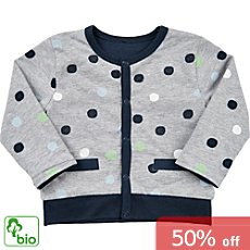 Me Too  reversible organic cotton baby cardigan