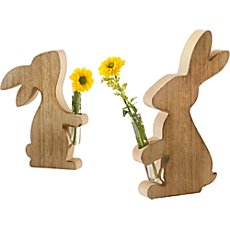 2-pack rabbits with vases