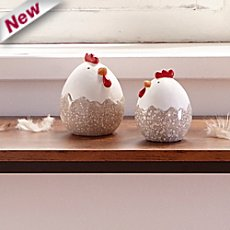 2-pk Easter decoration hens