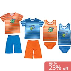 Erwin Müller single jersey 8-piece boys pj & underwear set