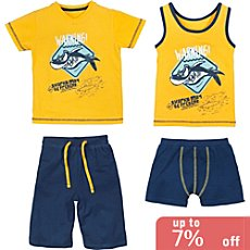 Erwin Müller single jersey 4-piece boys pj & underwear set