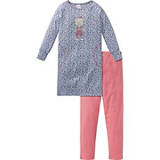 Schiesser single jersey nightshirt with leggings