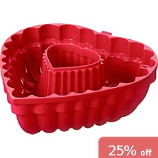 Kaiser Backen  heart shaped cake pan