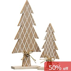 2-pack figurines, Christmas tree