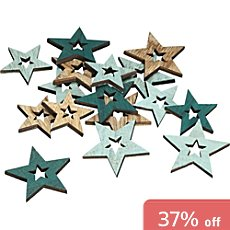 decoration scatter stars, 24-parts