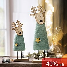 2-pack figurines, reindeer
