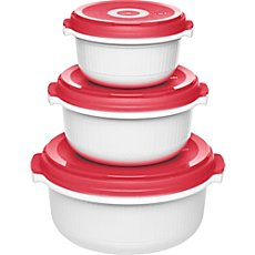 Emsa  3-piece microwave safe food containers