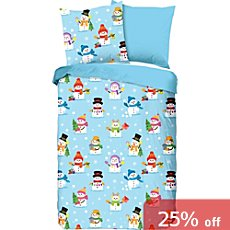 Good Morning cotton flannelette kids reversible duvet cover set
