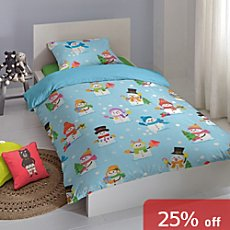 Good Morning cotton flannelette children's reversible duvet cover set