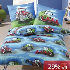 Kinderbutt 3-pc children duvet cover set, tractor