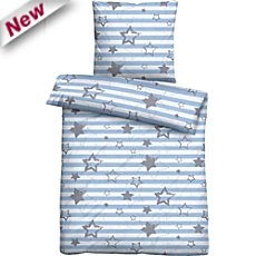 Biberna cotton flannel duvet cover set