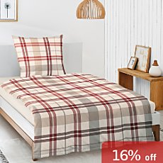 Irisette luxury cotton flannel duvet cover set