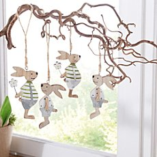 4-pack hanging decoration rabbits