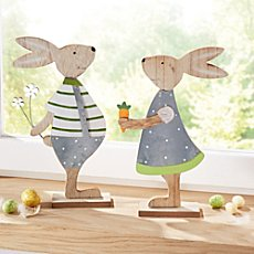 2-pc figurines rabbit pair