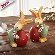 2-pack Easter bunnies