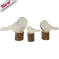 3-pack wooden decoration