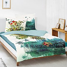 Irisette Egyptian cotton sateen reversible duvet cover set