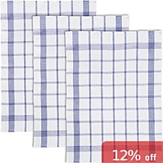 Pack of 6 half-linen tea towels