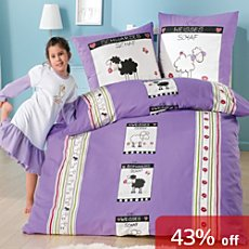 3-pc girl´s duvet cover set, sheep