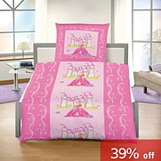 3-pc girl´s duvet cover set, princess