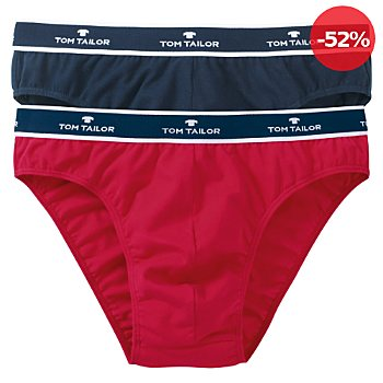 Tom Tailor Single-Jersey Herren-Slip im 2er-Pack