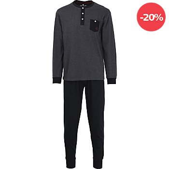 Tom Tailor Single-Jersey Herren-Schlafanzug