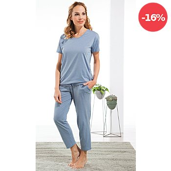 Schiesser Single-Jersey Damen-Schlafanzug