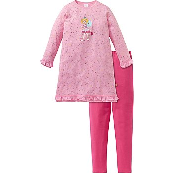 Schiesser Interlock-Jersey Kinder-Nachthemd mit Leggings