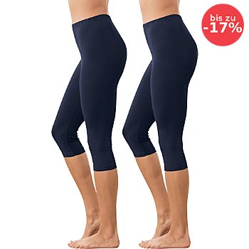 Erwin Müller Single-Jersey Damen-Capri-Leggings im 2er-Pack