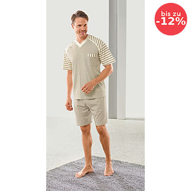 Götting Single-Jersey Herren-Shorty naturbelassen