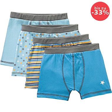 Erwin Müller Single-Jersey Jungen-Shorts im 4er-Pack