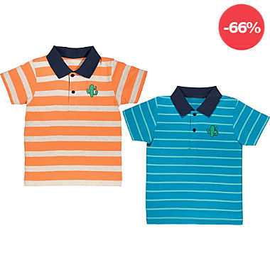 Erwin Müller Single-Jersey Kinder-Poloshirt im 2er-Pack