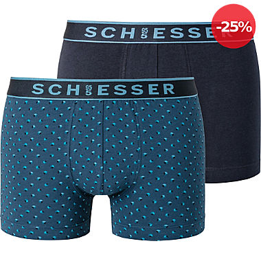 Schiesser Single-Jersey Herren-Pants im 2er-Pack