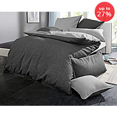 Biberna cotton flannelette reversible duvet cover set