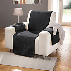 Erwin Müller armchair cover with integrated armrest covers, extra-long