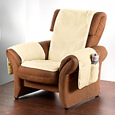 Erwin Müller armchair cover with integrated armrest covers
