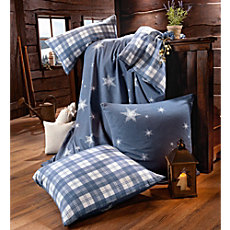 Dormisette cotton flannel reversible duvet cover set