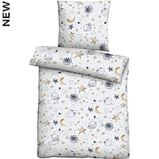 Biberna cotton flannel kids duvet cover set